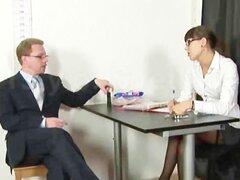 Entrevista de trabajo humillante, totalmente desnuda para rubia, 19 años Svetlana
