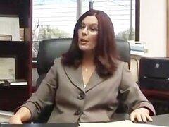 lesbian seduction office interview