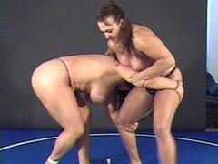 Nina vs China - Topless FBB Catfight