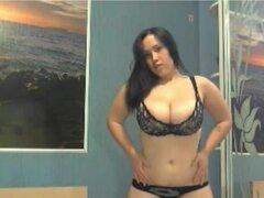babe Universidad chubby de 19 años de edad pela webcam