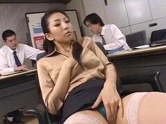 Increíble japonesa puta Kyoko Kashii en caliente mamada, JAV Secretaria video,