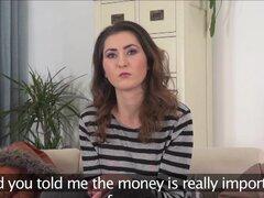 Morena inocente FakeAgent tímida follada duro en Casting entrevista