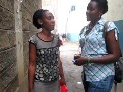 Jóvenes africanas diques follan en el baño
