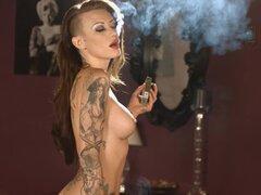 Becky fumar todos 100s blanco desnudo