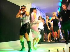 Clubbing ladies dance naughty and get all wet and slippery - Barbara Summer,Tatiana Milovani,Francesca Felucci,Sharka Blue