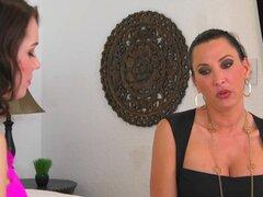 Estrellas porno increíble Raylin Ann, Lezley Zen en Cunnilingus más caliente, adulto del Colegio video,