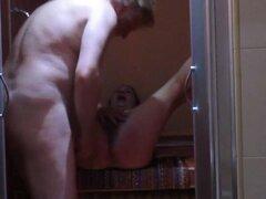 Pleasing my mature Arab wife Nadia in shower