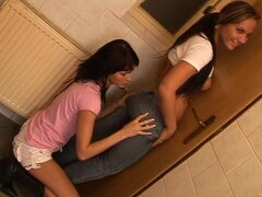 lick pussy in toilet