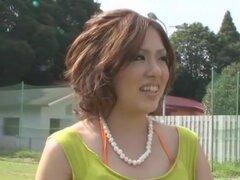 Increíble chica japonesa Saya Hayasaki en fabulosas al aire libre, video mamada JAV