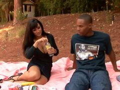 Lisa Ann & CJ Wright in My Friends Hot Mom. Lisa Ann is a mature woman who likes attention from younger men. And today shes enjoying a picnic with her sons friend. Neither one can stop flirting with the other, so they get more physical and test each others limits. Sex with a MILF is like a picnic: no one minds going through a little bush to get there!!!