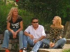 Increíble pornstars Sexy Luna y Lucy Van Dam en trios mejor, película porno al aire libre,