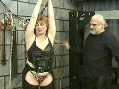 Grasa antigua señora presente a bondage