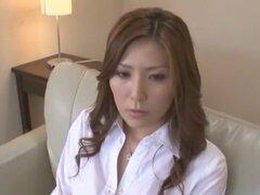 Impresionante puta japonesa Yuna Shiina en pareja fabulosa, clip de ropa interior JAV