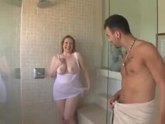 Belleza obesos ducha Fuck,