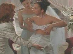 Novias de celebridades, rasgar sus vestidos y follan sus maridos!