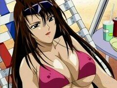 Esclavos de sexo Anime en coño cuerdas perforaron duro en grupo. Esclava sexual de anime tetona obtiene squirting chochos clavadas en grupo