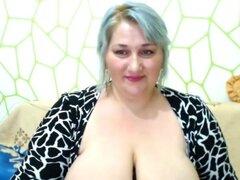 Haciendo webcam show, hermosa mujer dulce de gran culo BBW