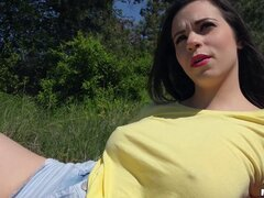 Nekane and her man have a hot hardcore picnic in the grass - Nekane
