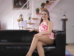 Heeled teen blows old rod, Highheeled euro teen blows and fucks old mans huge rod pov