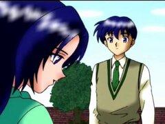 Anime lesbianas sexy besando y Lamiendo coño en el baño. Dos dulces chicas lesbianas de anime Lamiendo coño y besándose en el baño