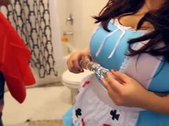 Latina gordita tetona BBW Lola Lush Cosplay de Halloween