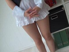 Chica japonesa desnuda 2. Cosplay video de Sakura Mana