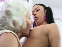 Abuela, lesbianas maduras y jovenes