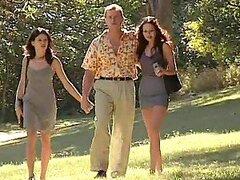 Randy chica parejas en el bosque