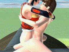 Sexo Anime en 3d con samurai anime sexy chica. Samurai 3d chicas anime follando pene duro en su coño mojado