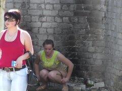 Chicas meando a voyeur video 252,