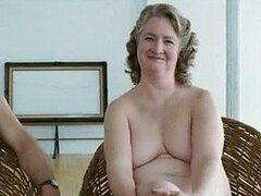 BBW madura rubia Marceline Hugot lo muestra todo en una escena de 'Piel'