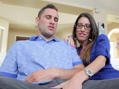 Milf in a blouse gets her lips around a dick and sucks lustily - Dava Foxx, Damon Dice
