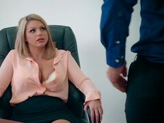 Experienced dude gives Brooklyn just what she needed in the office - Brooklyn Chase