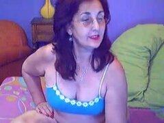 Abuela griega masturbándose orgasmo peluda de coño y conseguir